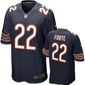 Matt Forte Jersey: Home Navy Game Replica #22 Nike Chicago