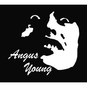Angus Young AC/DC Die Cut Vinyl Decal Sticker 6 White