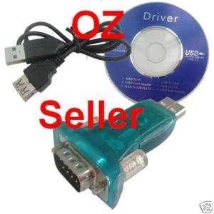 USB to Serial RS232 DB9 9 Pin Adaptor/Converter Win7