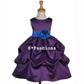 Purple Dress on Plum Purple Royal Blue Wedding Bridal Flower Girl Dress 6 9m 12 18m 2