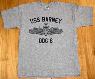 US USN Navy USS Barney DDG 6 Destroyer T Shirt
