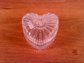 Decorative Glass Heart Shaped Trinket Box, vintage