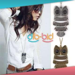 Fashion Charming New Lovely Style Retro Night Owl Pendant Necklace #2