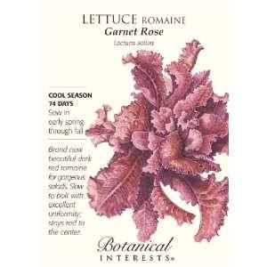 Lettuce Romaine Garnet Rose Seeds Patio, Lawn & Garden