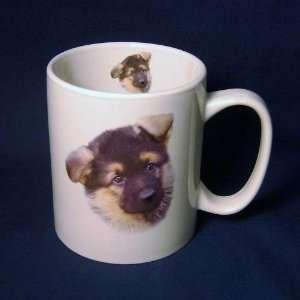 Cute German Shepherd Puppy Dog Jumbo 14 Ounce Coffee Mug
