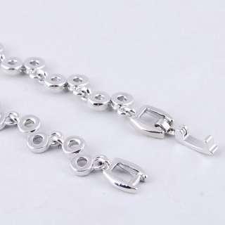 Purple Ringed Bead Link Czekh Rhinestone Crystal Bridal Necklace