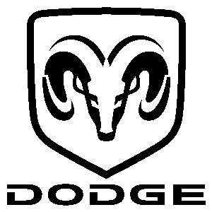 Dodge Ram Shield Head 12 inch Auto Window Sticker Decal