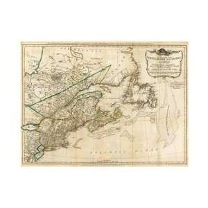 Robert Sayer   A General Map Of The Northern British Colonies In Ameri