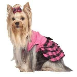 Ruffled Dress with Bows   Hot Pink/Black   Medium Pet