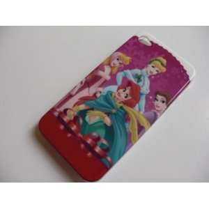 Disney Princesses Hard Cover Case for iPhone 4 4G + Free