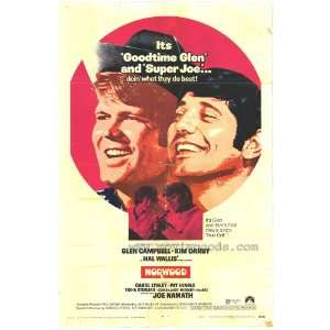 Poster Movie 27x40 Glen Campbell Kim Darby Joe Namath: Home & Kitchen