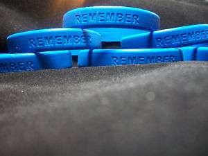 REMEMBER Wrist Band Rubber Bracelet in loving memory