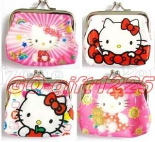 Christmas gift hello kitty Coin Purses Wallets Party Favor 12pcs