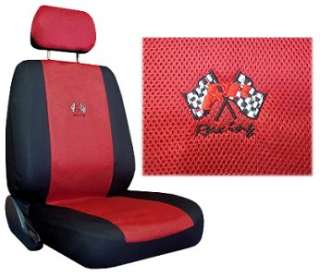 RED BLACK RACING CAR TRUCK SEAT COVER SPORT JERSEY 9 PC