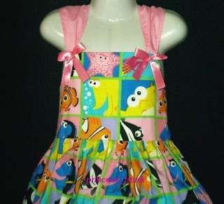 Disney Finding Nemo Patchworks Sun Dress Sz 12M 10yrs