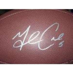 Michael Crabtree Signed Football   Autographed Footballs