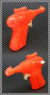 1950s Vintage Palmer Red Plastic Ray Gun, Sci Fi Squirt Gun, Laser