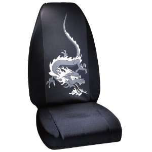 Gray Fire Dragon Universal Fit Bucket Seat Cover Automotive