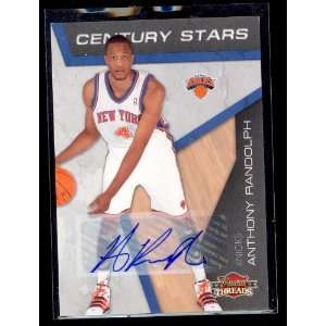Panini Threads Knicks Anthony Randolph Auto 12/25 Sports Collectibles