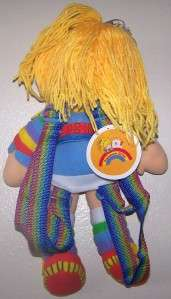 NEW LICENSED RAINBOW BRITE 16 INCH PLUSH DOLL BACKPACK SOFT AND CUTE