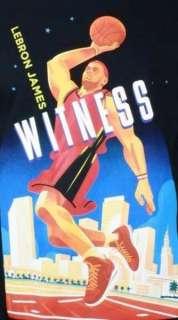 NIKE LEBRON WITNESS EPIC Black Dri Fit Tee T Shirt Size S M L XL XXL