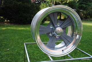 15 x 7 ROCKET STRIKE HOT ROD MAG CHEVY FORD WHEELS AS CAST GASSER