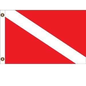 Skin Diver Message Flag 12 X 18: Patio, Lawn & Garden