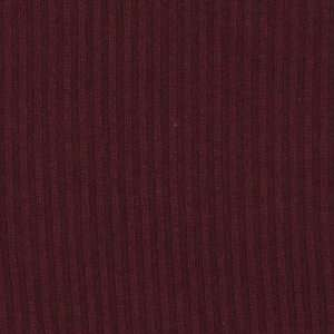 56 Wide Light Weight Rayon Blend Ribbed Sweater Knit Maroon Fabric