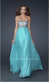 2012 Long Strapless Chiffon Evening Prom Dress Ball Party Gown