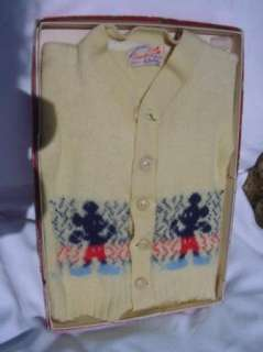 VINTAGE MICKEY MOUSE SWEATER IN ORIGINAL BOX