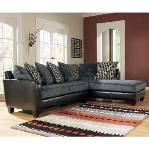 Lovely Ashley Furniture Chocolate Victory Sectional On PopScreen