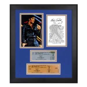 Elvis Presley 1968 Special 40th Ann. Framed Photo & Ticket