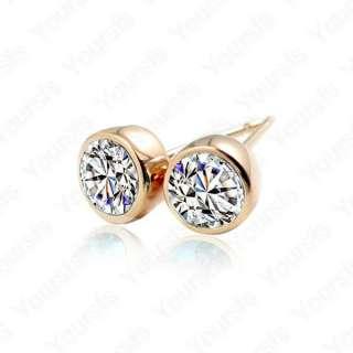 18K Gold Plated Diamond Earring Use Dazzling Swarovski Crystal Fashion
