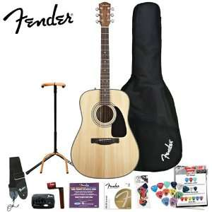 Fender DG 8S Acoustic Guitar Value Pack with Ultra Stand & Fender