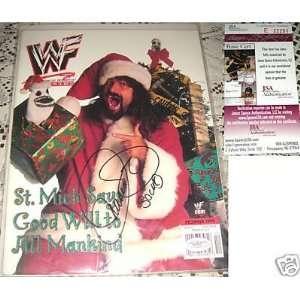 1999 WWE TNA SOCKO Mick Foley Signed Magazine JSA   Sports