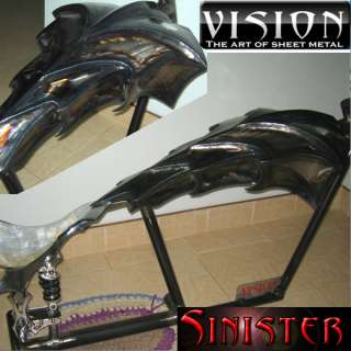 SINISTER custom chopper gas tank fuel STRAIGHT frame