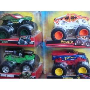 Hot Wheels Monster Jam Lot of 4 Popular 4x4 Trucks Grave