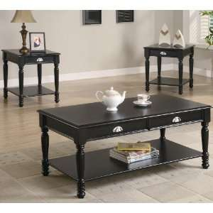 Occasional 3 Pc Black Coffee/End Table Set by Coaster