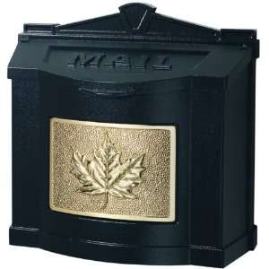 Gaines Leaf Design Wall Mount Mailbox With Locking Insert