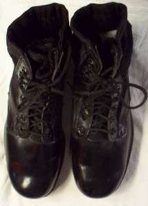 NEW BLACK LEATHER & MATERIAL GOTH PUNK EMO MOTORCYCLE ANKLE BOOTS 10M