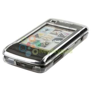 Purple+Clear Snap On Hard Case For LG Verizon enV Touch VX11000