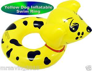 Dog Inflatable Swim Rings Swimming Tubes Pool Floats