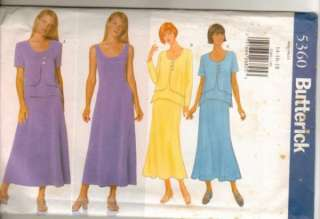 Butterick 5360 Pattern Misses Dress Pullover Top size 14 16 18