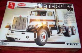 359 SEMI TRUCK VINTAGE PLASTIC MODEL KIT AMT ERTL 1/25 SCALE NIB HUGE