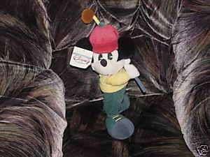 15 Disney GOLFER MICKEY W/Golf Club Plush Toy W/Tags |