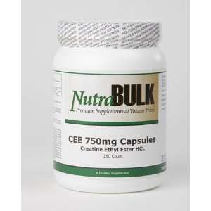 NutraBulk Creatine Ethyl Ester 750mg Capsules 250 Count