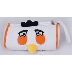 New White Angry Birds Soft Plush Pencil Case Bag