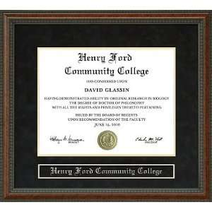 Henry Ford Community College (HFCC) Diploma Frame Sports