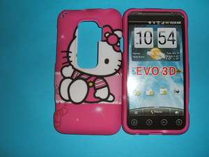 HTC EVO 3D PINK HELLO KITTY HARD CASE