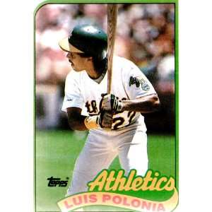 Luis Polonia 1989 Topps MLB Card #424: Everything Else